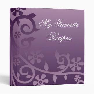 Amethyst Lilac Daisy Vine Recipe Book Binder