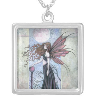 Amethyst Moon Fairy Pendant Necklace