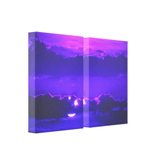 Amethyst Moonlight Wrapped Canvas Prints