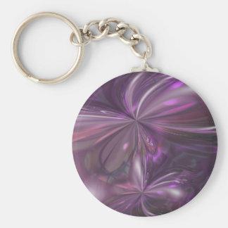 Amethyst Murmur Basic Round Button Keychain