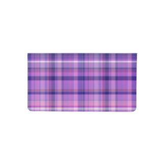 Amethyst Navy Blue Cotton Candy Pink Madras Checkbook Cover
