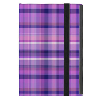 Amethyst Navy Blue Cotton Candy Pink Madras iPad Mini Cover