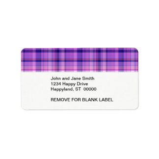 Amethyst Navy Blue Cotton Candy Pink Madras Label