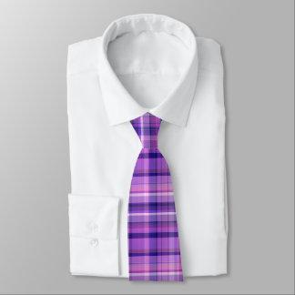 Amethyst Navy Blue Cotton Candy Pink Madras Neck Tie