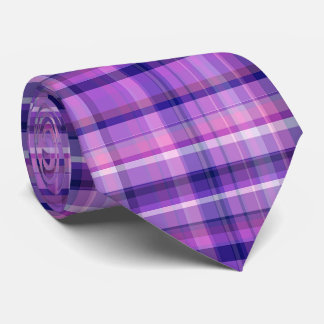 Amethyst Navy Blue Cotton Candy Pink Madras Tie
