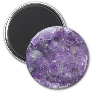 Amethyst New Age Crystal Healing Cluster Photo Magnet