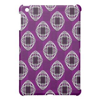 Amethyst Nouveau Checked Pattern iPad Mini Case