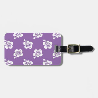 Amethyst Orchid and White Hibiscus Floral Bag Tag