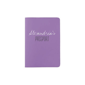 Amethyst Orchid Pale Purple Solid Color Custom Passport Holder