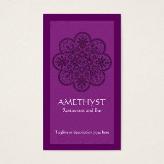 Amethyst Ornament Business Card