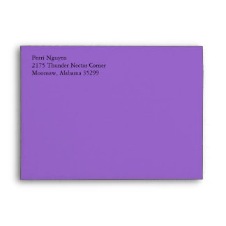 Amethyst Purple A7 Envelopes With Return Address