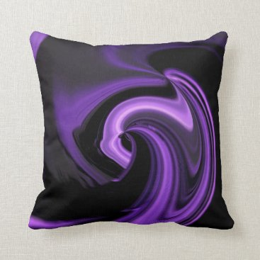 Valentines Themed Amethyst Purple Abstract Heart Throw Pillow