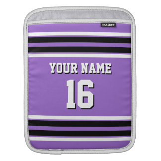 Amethyst Purple Blk Team Jersey Custom Number Name Sleeve For iPads