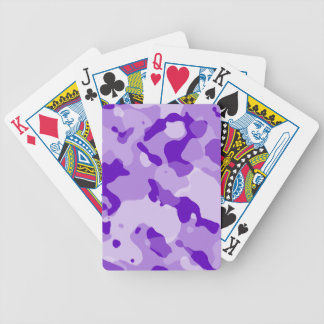 Amethyst Purple Camo; Camouflage Playing Cards