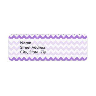 Amethyst Purple Chevron Labels