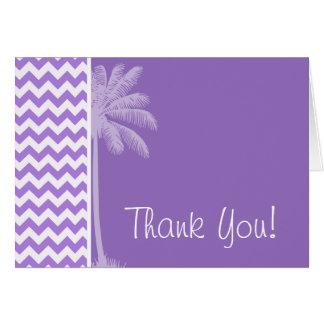 Amethyst Purple Chevron; Palm Card