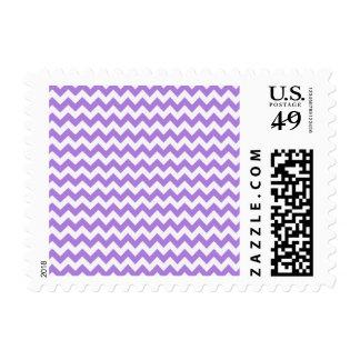 Amethyst Purple Chevron Postage