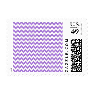 Amethyst Purple Chevron Postage Stamp