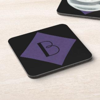 Amethyst Purple Color Velvet Custom Home Casino Coasters