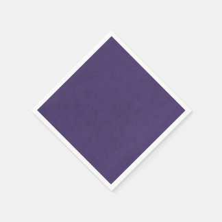 Amethyst Purple Color Velvet Custom Home Casino Paper Napkin