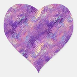 Amethyst Purple Crystal Gel Texture Heart Sticker