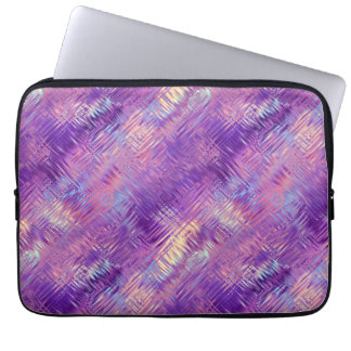 Amethyst Purple Crystal Gel Texture Laptop Computer Sleeve
