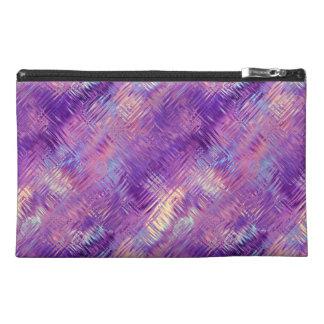 Amethyst Purple Crystal Gel Texture Travel Accessories Bag