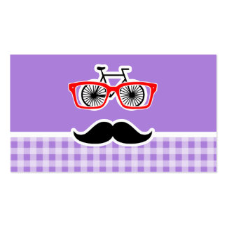 Amethyst Purple Gingham; Hipster Business Card Templates