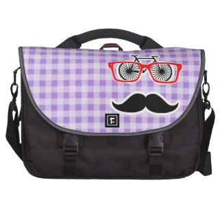 Amethyst Purple Gingham; Hipster Commuter Bags