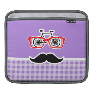 Amethyst Purple Gingham; Hipster Sleeve For iPads