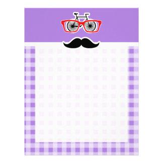Amethyst Purple Gingham; Hipster Letterhead Design