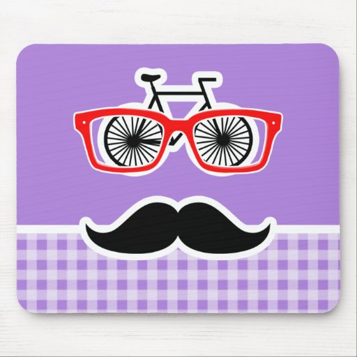 Amethyst Purple Gingham; Hipster Mousepads