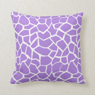 Amethyst Purple Giraffe Animal Print Throw Pillow