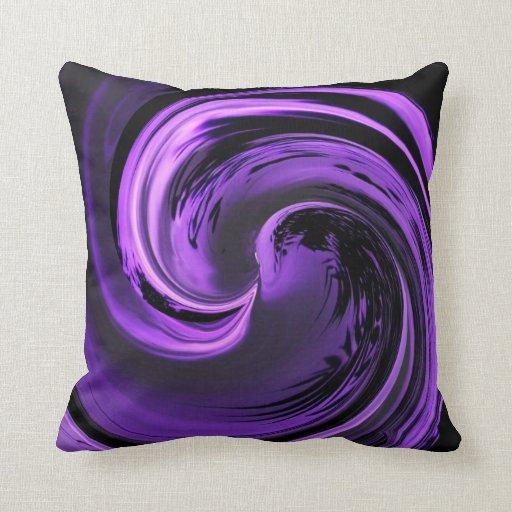 Amethyst purple island wave throw pillow for Amethyst throw pillows