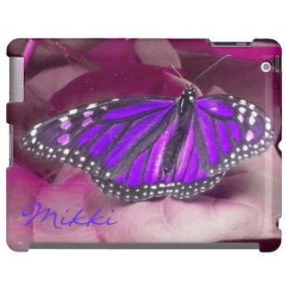 Amethyst Purple Monarch Butterfly iPad case