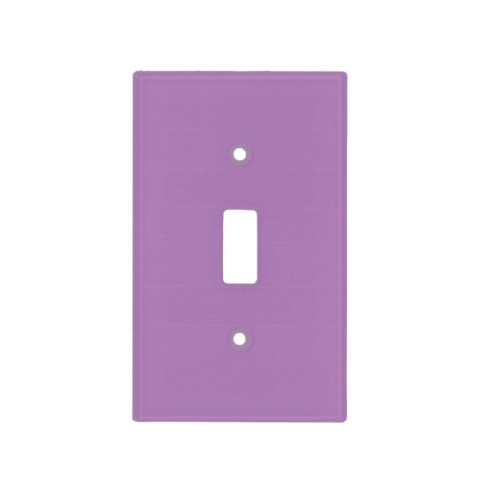 Amethyst Purple Personalized Plum Color Background Light Switch Cover