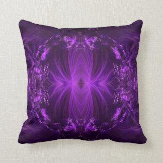 Amethyst Purple Ribbons Throw Pillow
