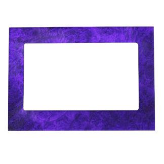 Amethyst Purple Suede Look Photo Fram Magnet