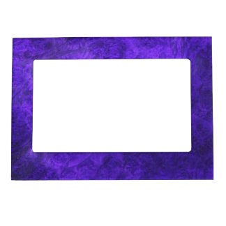Amethyst Purple Suede Look Photo Fram Magnet Magnetic Photo Frames