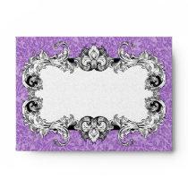 Amethyst Purple & White A6 Gothic Baroque Envelope