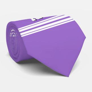 Amethyst Purple Wht Team Jersey Custom Number Name Neck Tie