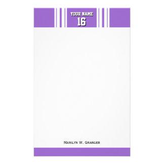 Amethyst Purple Wht Team Jersey Custom Number Name Stationery