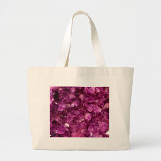Amethyst Quartz Crystal Purple Precious Stones Tote Bags