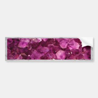 Amethyst Quartz Crystal Purple Precious Stones Bumper Sticker