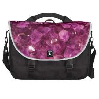 Amethyst Quartz Crystal Purple Precious Stones Bag For Laptop