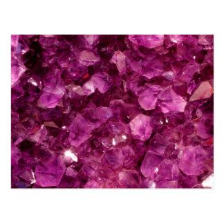 Amethyst Quartz Crystal Purple Precious Stones Postcards