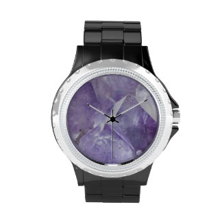 Amethyst Quartz Terminated Crystals Wrist Watch