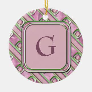 Amethyst, Rose Quartz and Emerald Ceramic Ornament
