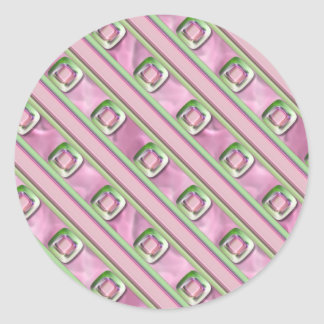 Amethyst, Rose Quartz and Emerald Round Sticker