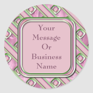 Amethyst, Rose Quartz and Emerald Sticker